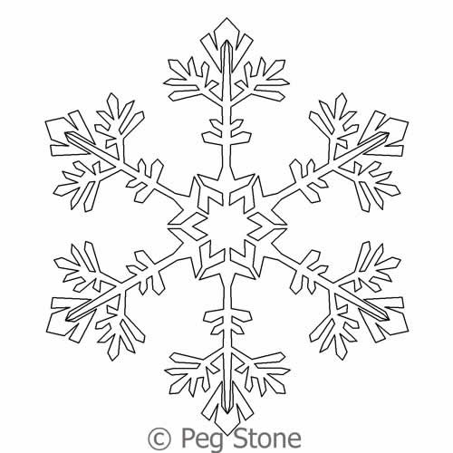 Snowflake 8   Peg Stone   Digitized Quilting Designs : snowflake quilting design - Adamdwight.com