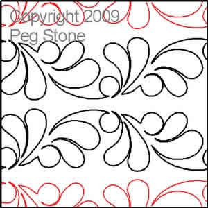 Digital Quilting Design Double Feather by Peg Stone.