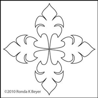 Digital Quilting Design Bohemian Tulip Motif 1 by Ronda Beyer.
