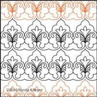 Digital Quilting Design Cathedral Lace Border Panto 1 by Ronda Beyer.