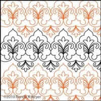 Digital Quilting Design Cathedral Lace Border Panto 2 by Ronda Beyer.