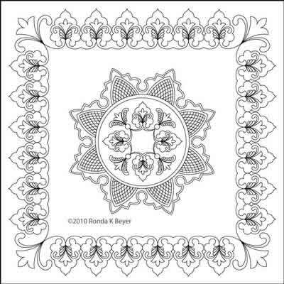 Digital Quilting Design Cathedral Lace Set 2 by Ronda Beyer.