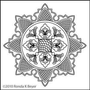 Digital Quilting Design Cathdral Lace Wholecloth by Ronda Beyer.