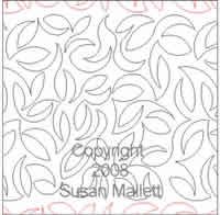 Digital Quilting Design Leaf Texture by Susan Mallett.
