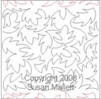 Digital Quilting Design Maple Texture by Susan Mallett.