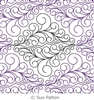 Digital Quilting Design Fancy Curls Panto by Sue Patten.