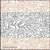 Digital Quilting Design Sue's Pantograph 23 by Sue Patten.