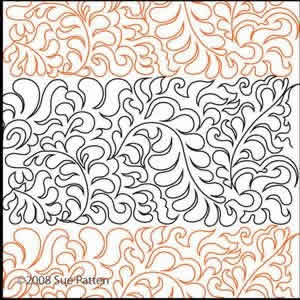 Digital Quilting Design Sue's Pantograph 25 by Sue Patten.