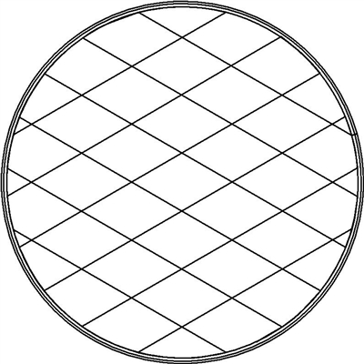 Digital Quilting Design 8 Inch Circle Potholder Diamond Grid by Scandia Quilt Studio