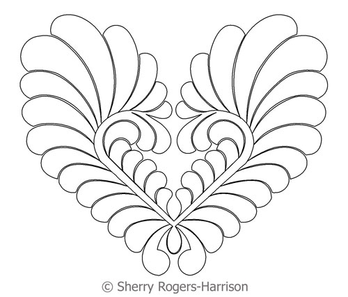 Goosebumps Feather Heart | Digital Quilting Designs : feather quilting designs - Adamdwight.com