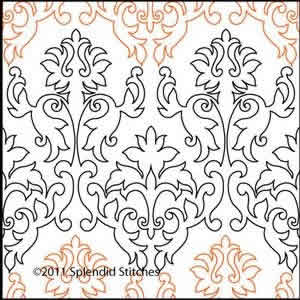 Digital Quilting Design Aimee's Damask by Splendid Stitches.