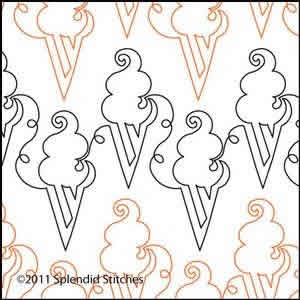 Digital Quilting Design Aimee's Ice Cream by Splendid Stitches.