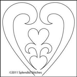 Digital Quilting Design Heart of My Heart 11 by Splendid Stitches.