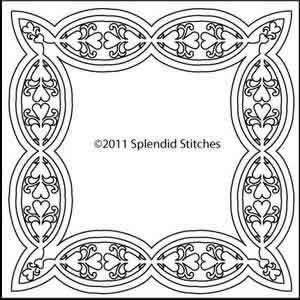 Digital Quilting Design Heart of My Heart 5 by Splendid Stitches.