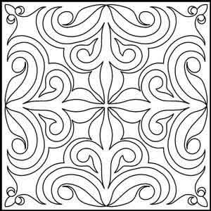 Digital Quilting Design DTQ Block 14 by Tammie Baggett.