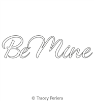 Be Mine Text Motif by Tracey Pereira. This image demonstrates how this computerized pattern will stitch out once loaded on your robotic quilting system. A full page pdf is included with the design download.