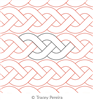 Braided Cable by Tracey Pereira. This image demonstrates how this computerized pattern will stitch out once loaded on your robotic quilting system. A full page pdf is included with the design download.