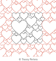 I Love You This Much Panto by Tracey Pereira. This image demonstrates how this computerized pattern will stitch out once loaded on your robotic quilting system. A full page pdf is included with the design download.