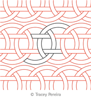 Interlocking Circles Panto by Tracey Pereira. This image demonstrates how this computerized pattern will stitch out once loaded on your robotic quilting system. A full page pdf is included with the design download.