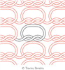 Knitty Knot Panto by Tracey Pereira. This image demonstrates how this computerized pattern will stitch out once loaded on your robotic quilting system. A full page pdf is included with the design download.