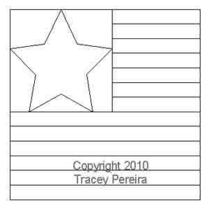 Digital Quilting Design Star Struck by Tracey Pereira.