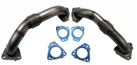 WEHRLI 2017-2018 DURAMAX L5P 2IN STAINLESS UP PIPE KIT FOR OEM MANIFOLDS W/ GASKETS