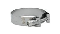 "Vibrant Performance Stainless Steel T-Bolt Clamps (Pack of 2) - Clamp Range: 4.75""-5.10"""