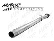 "P1 CFAL456 2008-2010 FORD 4"" CAT/DPF delete pipe Aluminized with bungs"