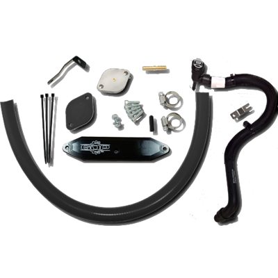 2015.5-2016 Powerstroke 6.7L Cooler Upgrade with Coolant Re-Route Hoses with Pass Through Plate
