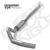 "DIAMOND EYE 2001-EARLY 2007 - CHEVY 6.6L DURAMAX DIESEL 4"" ALUMINIZED - PERFORMANCE DIESEL EXHAUST KIT - ""QUIET TONE"" DOWN PIPE BACK (OFF-ROAD) SINGLE - FEATURES 4"" ""QUIET TONE"" DOWN PIPE WITH INTEGRATED RESONATOR"