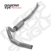 "DIAMOND EYE 2001-EARLY 2007 - CHEVY/GMC 6.6L DURAMAX DIESEL 4"" ALUMINIZED - PERFORMANCE DIESEL EXHAUST KIT - DOWN PIPE BACK (OFF-ROAD) SINGLE"