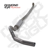 "DIAMOND EYE 2001-EARLY 2007 - CHEVY/GMC 6.6L DURAMAX DIESEL 4"" T409 STAINLESS STEEL - PERFORMANCE DIESEL EXHAUST KIT - DOWN PIPE BACK (OFF-ROAD) SINGLE"
