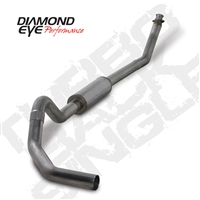 "DIAMOND EYE 1994-1998 - DODGE 5.9L 12V CUMMINS DIESE4"" T409 STAINLESS STEEL - PERFORMANCE DIESEL EXHAUST KIT - TURBO BACK SINGLE"