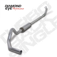 "DIAMOND EYE 2004.5- EARLY 2007 - DODGE 5.9L CUMMINS DIESEL 4"" ALUMINIZED - PERFORMANCE DIESEL EXHAUST KIT - ""QUIET TONE"" TURBO BACK (OFF-ROAD) SINGLE"