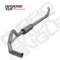 "DIAMOND EYE 2004.5- EARLY 2007 - DODGE 5.9L CUMMINS DIESEL 4"" 409 STAINLESS STEEL - PERFORMANCE DIESEL EXHAUST KIT - ""QUIET TONE"" TURBO BACK (OFF-ROAD) SINGLE"