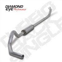 "DIAMOND EYE 2004.5-EARLY 2007 - DODGE 5.9L CUMMINS DIESEL 4"" ALUMINIZED - PERFORMANCE DIESEL EXHAUST KIT - TURBO BACK (OFF-ROAD) SINGLE"