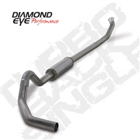 "DIAMOND EYE 2004.5-EARLY 2007 - DODGE 5.9L CUMMINS DIESEL 4"" T409 STAINLESS STEEL - PERFORMANCE DIESEL EXHAUST KIT - TURBO BACK (OFF-ROAD) SINGLE ​"