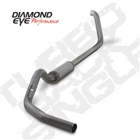 "DIAMOND EYE 1999-2003 Ford 7.3L 4"" STAINLESS W/ MUFFLER PERFORMANCE DIESEL EXHAUST TURBO BACK SINGLE"
