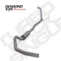 "DIAMOND EYE 2003-2007 6.0L 4"" ALUMINIZED W/ MUFFLER TURBO BACK SINGLE"