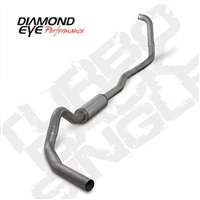 "DIAMOND EYE 2003-2007 6.0L 4"" STAINLESS W/ MUFFLER TURBO BACK SINGLE"