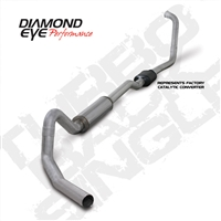 "DIAMOND EYE 2003-2007 6.0L 4"" ALUMINIZED W/ MUFFLER TURBO BACK SINGLE EXCURSION"