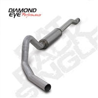 "DIAMOND EYE 2003-2007 6.0L 4"" ALUMINIZED W/ MUFFLER CAT BACK SINGLE EXCURSION"