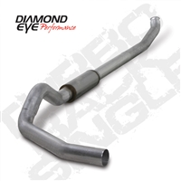 "DIAMOND EYE 2004.5-EARLY 2007 - DODGE 5.9L CUMMINS DIESE 5"" ALUMINIZED - PERFORMANCE DIESEL EXHAUST KIT - TURBO BACK (OFF-ROAD) SINGLE - FEATURES TRUE 5"" DOWN PIPE ​"