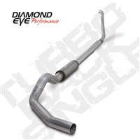 "DIAMOND EYE 1994- 1997 FORD 7.3L 5"" ALUMINIZED W/ MUFFLER - PERFORMANCE DIESEL EXHAUST KIT - TURBO BACK SINGLE"