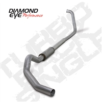 "DIAMOND EYE 2003-2007 6.0L 5"" ALUMINIZED W/ MUFFLER TURBO BACK SINGLE"
