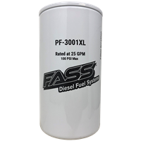 FASS Fuel System PF-3001XL EXTENDED LENGTH PARTICULATE FILTER