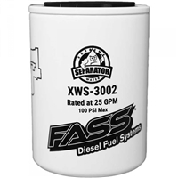 FASS XWS-3002 EXTREME WATER SEPARATOR FOR FASS TITANIUM / SIGNATURE SERIES PUMPS (REQUIRES FASS PF-3001 - SEE NOTES)