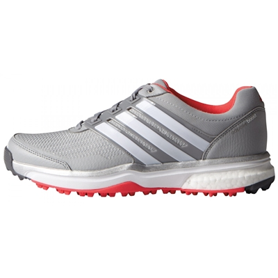 Adidas Women's Adipower Sport Boost 2 Clear Onix/FTWR White/Shock Red
