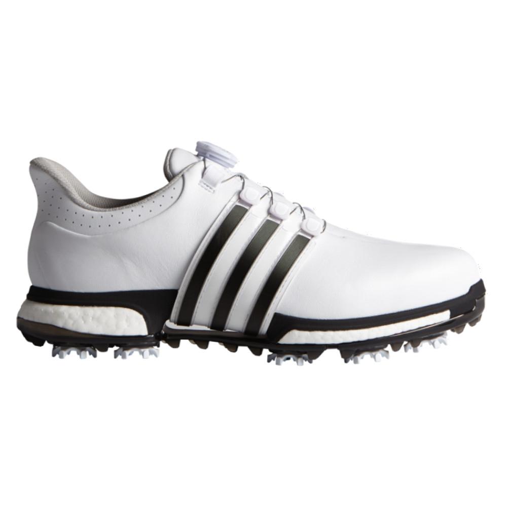 dc793d63d Adidas Tour 360 BOA Boost White Core Black Dark Silver Metallic