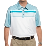 Ashworth Men's PGA Championship Tournament Polo White/Seaglass/Enamel